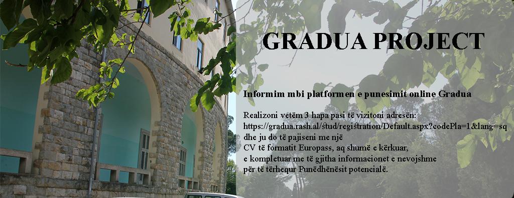 Platforma e punësimit online GRADUA