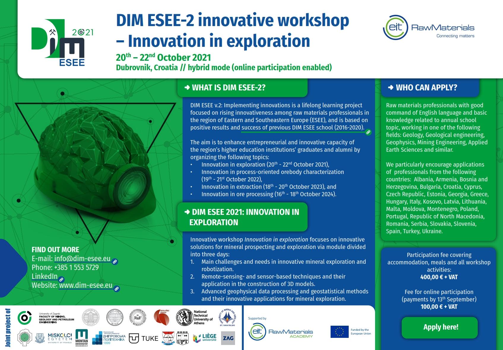 REGISTRATION AND FEES | DIM ESEE SCHOOL | IUC DUBROVNIK (dim-esee.eu)